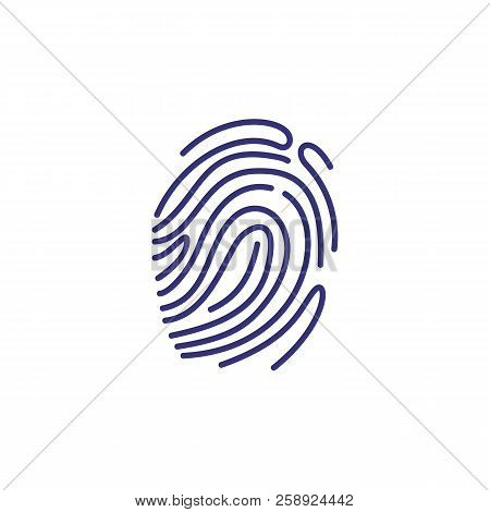Fingerprint Icon. Evidence, Identity, Detection. Justice Concept. Vector Illustration Can Be Used Fo