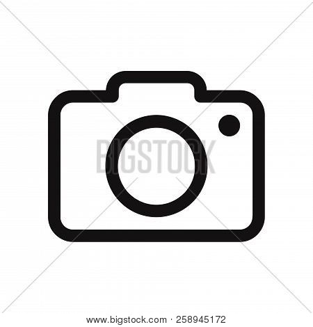 Photo Camera Icon Isolated On White Background. Photo Camera Icon In Trendy Design Style. Photo Came