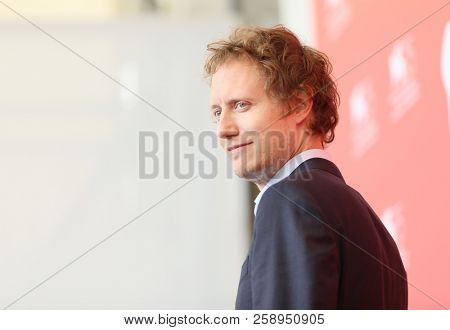Laszlo Nemes attends 'Napszallta (Sunset)' photocall during the 75th Venice Film Festival at Sala Casino on September 3, 2018 in Venice, Italy.
