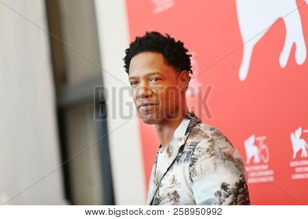 Tory Kittles attends 'Dragged Across Concrete' photocall during the 75th Venice Film Festival at Sala Casino on September 3, 2018 in Venice, Italy.