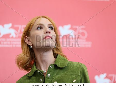Lolita Chammah attends 'At Eternity's Gate' photocall during the 75th Venice Film Festival at Sala Casino on September 3, 2018 in Venice, Italy.
