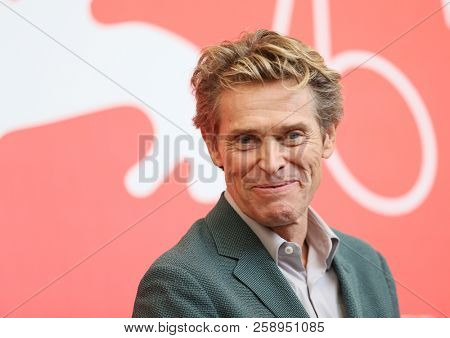 Willem Dafoe attends 'At Eternity's Gate' photocall during the 75th Venice Film Festival at Sala Casino on September 3, 2018 in Venice, Italy.