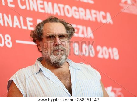 Julian Schnabel attends 'At Eternity's Gate' photocall during the 75th Venice Film Festival at Sala Casino on September 3, 2018 in Venice, Italy.