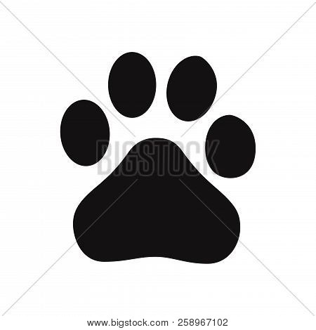 Paw Icon Isolated On White Background. Paw Icon In Trendy Design Style. Paw Vector Icon Modern And S