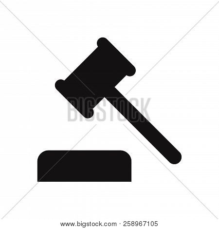Auction Hammer Icon Isolated On White Background. Auction Hammer Icon In Trendy Design Style. Auctio
