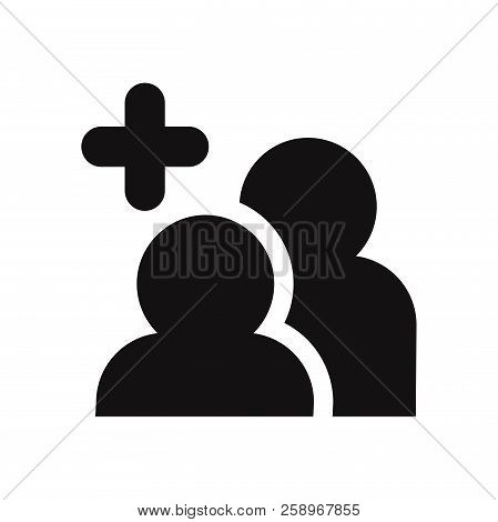 Add Friends Icon Isolated On White Background. Add Friends Icon In Trendy Design Style. Add Friends