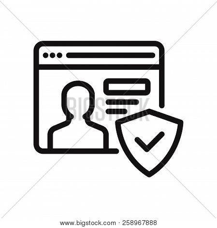 Account Icon Isolated On White Background. Account Icon In Trendy Design Style. Account Vector Icon