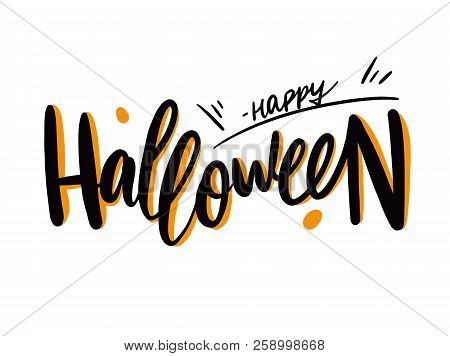 Happy Halloween Hnad Vector Photo Free Trial Bigstock