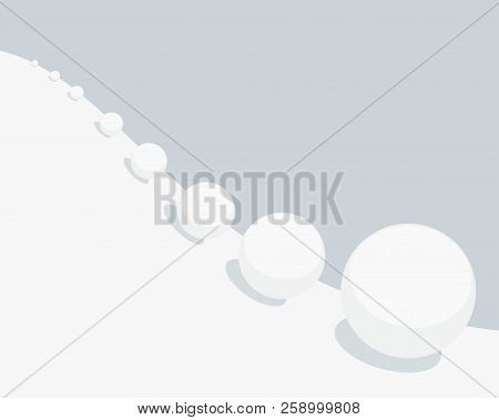 Vector Simple Doodle Illustration Of Snowball Effect