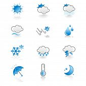 cool, simple weather icon set poster