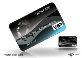Vector Black Style Credit Card
