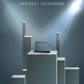 Vector Pedestal For Your Presentation.
