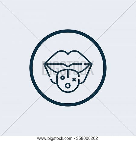 Mouth Icon Isolated On White Background From Virus Collection. Mouth Icon Trendy And Modern Mouth Sy