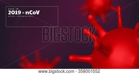 Coronavirus Background, Virus Strain Of Mers-cov And Novel Coronavirus 2019-ncov. Vector Concept Of