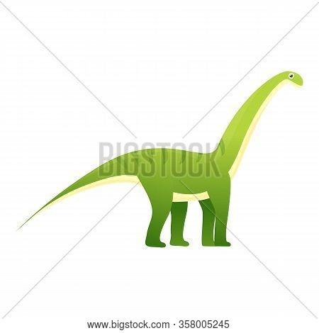 Brachiosaurus Icon. Cartoon Of Brachiosaurus Vector Icon For Web Design Isolated On White Background