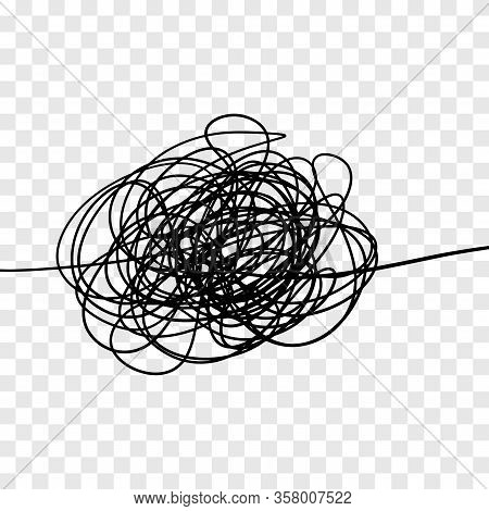 Vector Of Hand Drawn Scrawl Sketch. Chaos Pattern