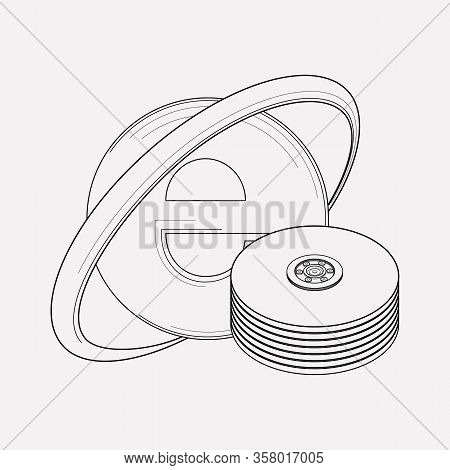 Seo Hosting Icon Line Element. Illustration Of Seo Hosting Icon Line Isolated On Clean Background Fo