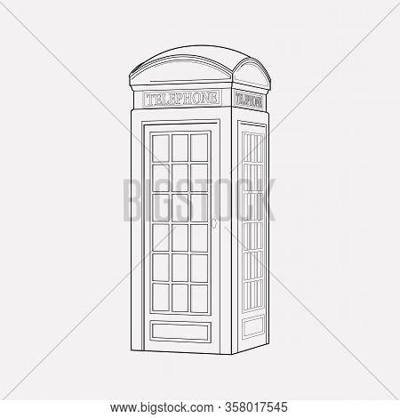 Telephone Box Icon Line Element. Vector Illustration Of Telephone Box Icon Line Isolated On Clean Ba