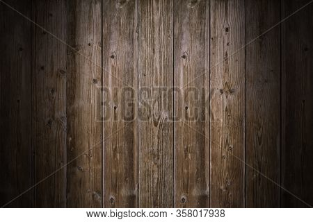 Brown Wood Texture. Abstract Background, Empty Template. Rustic Weathered Barn Wood Background With