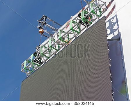The Led Screen For An Outdoor Event