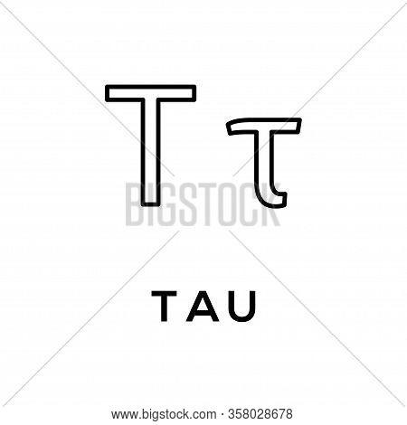 Greek Alphabet : Tau Icon Vector Template Design Trendy