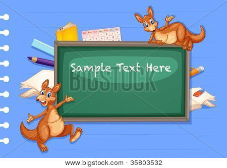 illustration of writing board on a blue background