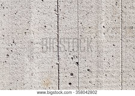 Porous Material Of Gas Silicate Blocks For The Construction Of Buildings And Structures, Close-up Of