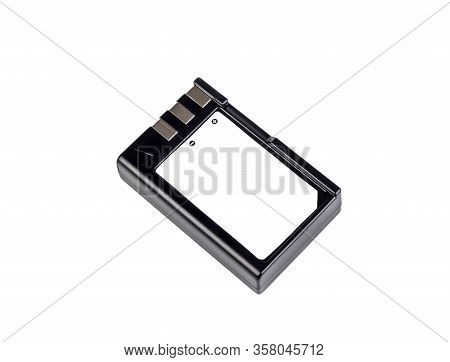 Lithium-ion Battery For Photo Camera. Isolated On White Background.