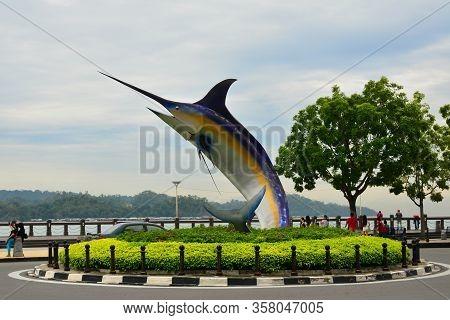 Kota Kinabalu, My - June 21: Swordfish Statue On June 21, 2016 In Kota Kinabalu, Malaysia. Swordfish