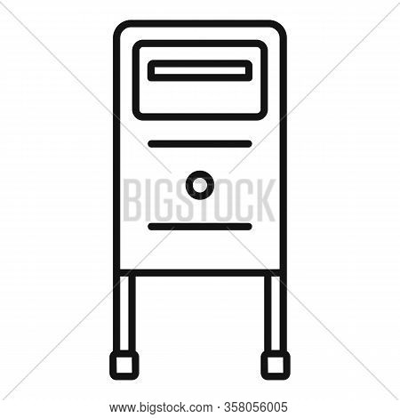 Postbox Icon. Outline Postbox Vector Icon For Web Design Isolated On White Background