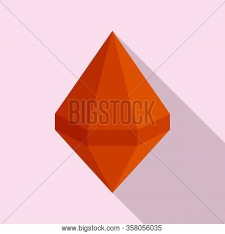 Ruby Icon. Flat Illustration Of Ruby Vector Icon For Web Design