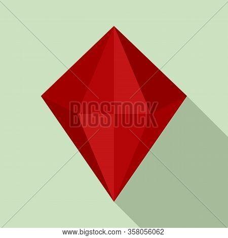 Love Jewel Icon. Flat Illustration Of Love Jewel Vector Icon For Web Design