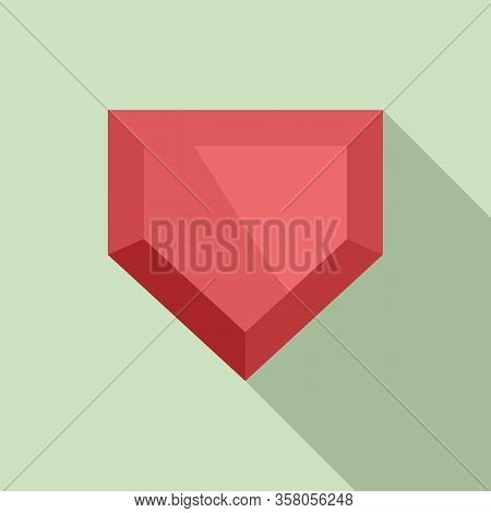Game Jewel Icon. Flat Illustration Of Game Jewel Vector Icon For Web Design