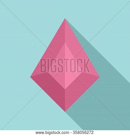 Princess Jewel Icon. Flat Illustration Of Princess Jewel Vector Icon For Web Design