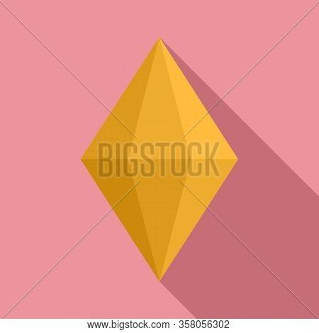 Tourmaline Jewel Icon. Flat Illustration Of Tourmaline Jewel Vector Icon For Web Design