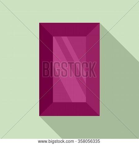 Vintage Jewel Icon. Flat Illustration Of Vintage Jewel Vector Icon For Web Design