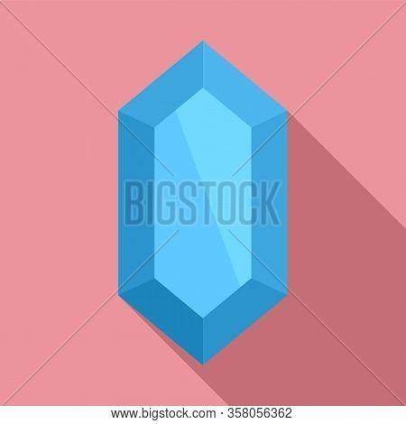 Amethyst Jewel Icon. Flat Illustration Of Amethyst Jewel Vector Icon For Web Design