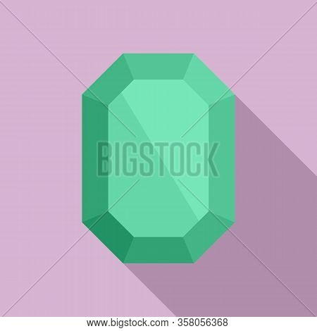 Solid Jewel Icon. Flat Illustration Of Solid Jewel Vector Icon For Web Design