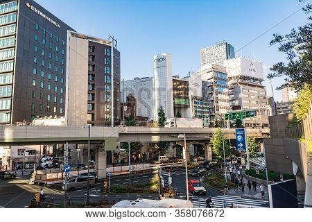 Tokyo, Japan, Asia - September 6,2019 : View Of Roppongi District