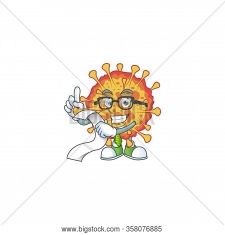 Cartoon Character Of Epidemic Covid19 Holding Menu On His Hand