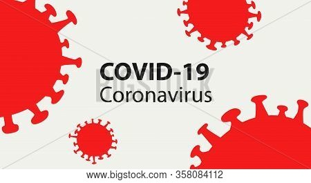 Covid-19 Coronavirus Concept Inscription Typography Design Poster.world Health Organization Who Intr