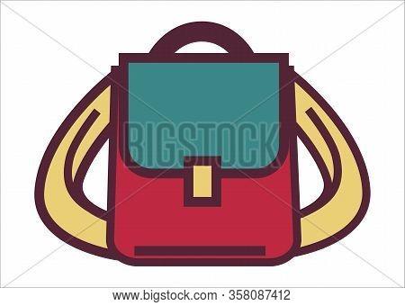 School Rucksack Or Pupils Satchel, Bag For Traveling
