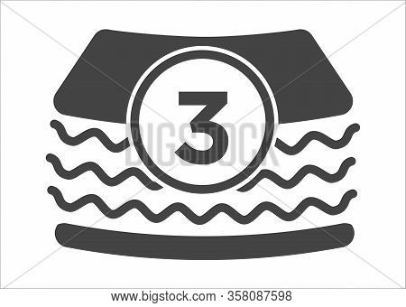 Nappy Closeup View With 3 Layer Protection Underwear For Infant Vector