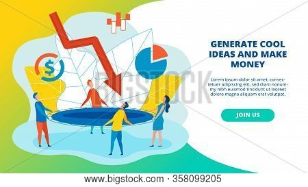 Poster Written Generate Cool Ideas And Make Money. Basic Social Media Marketing Rules. Men And Women