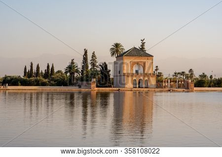 The Menara Gardens Are Botanical Gardens Located To The West Of Marrakech, Morocco, Near The Atlas M