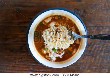 Noodle Or Noodles Or Seafood Noodles, Squid Noodles