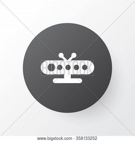 Tv Box Icon Symbol. Premium Quality Isolated Hardware Element In Trendy Style.