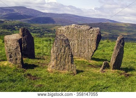 Stone Circle On The Hilltop Near Kealkill In County Cork,ireland.