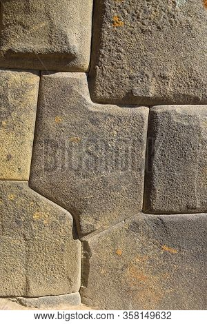 Inca Stonecraft In The Ruins Of Ollantaytambo In The Sacred Valley Near Cusco, Peru
