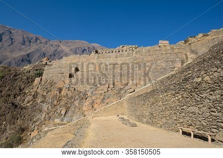 The Inca Ruins Of Ollantaytambo In The Sacred Valley Near Cusco, Peru